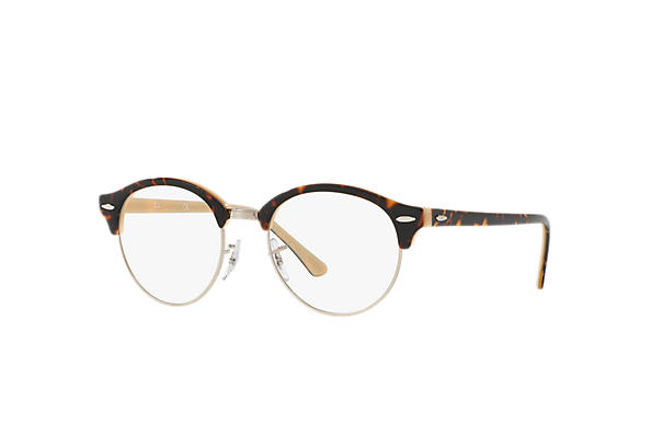 Ray-Ban 0RX4246V-CLUBROUND OPTICS Tartaruga,Argento; Tartaruga,Ivory OPTICAL