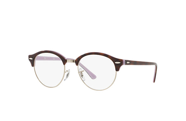 Ray-Ban 0RX4246V-CLUBROUND OPTICS Tortoise,Silver; Tortoise,Violet OPTICAL