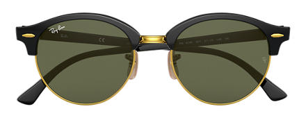 Ray-Ban CLUBROUND Black with Green Classic G-15 lens