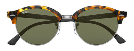 Ray-Ban CLUBROUND Tortoise with Green Classic G-15 lens