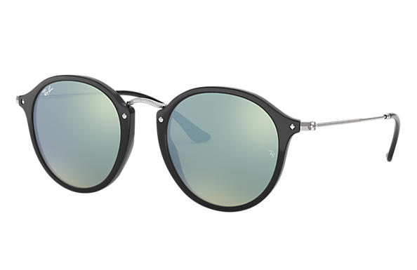 Ray-Ban 0RB2447-ROUND FLECK @Collection Svart; Silver SUN