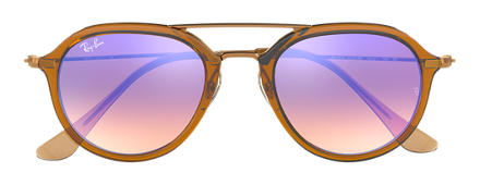 Ray-Ban RB4253 Brown with Blue Gradient Flash lens