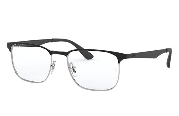 Ray-Ban 0RX6363-RB6363 Black,Silver; Black OPTICAL