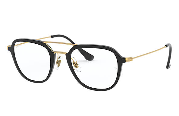 Ray-Ban 0RX7098-RB7098 Noir; Or OPTICAL