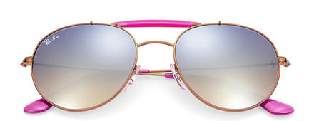 Ray-Ban RB3540 Bronze-Copper with Silver Gradient Flash lens