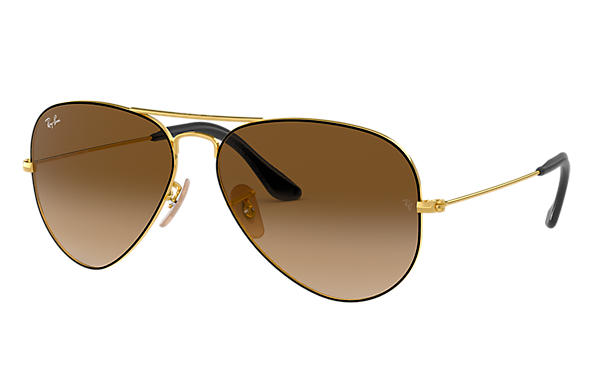 Ray-Ban 0RB3025-AVIATOR @Collection Gold,Schwarz; Gold SUN