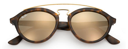 Ray-Ban RB4257 GATSBY II Tortoise with Gold Mirror lens