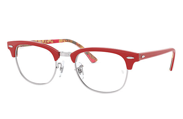Ray-Ban 0RX5154-Clubmaster Optics Red,Multicolor OPTICAL