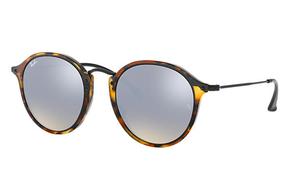 Ray-Ban 0RB2447-ROUND FLECK FLASH LENSES GRADIENT Tartaruga; Preto SUN