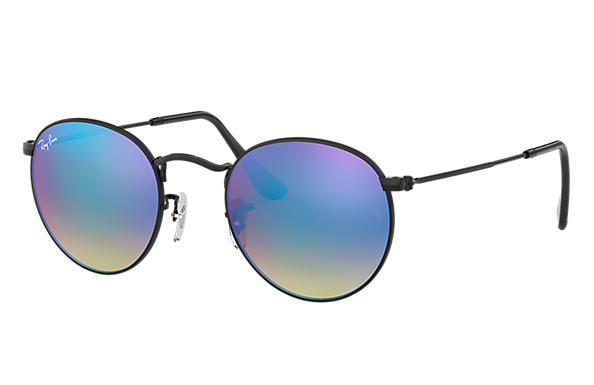 Ray-Ban 0RB3447-ROUND FLASH LENSES GRADIENT Schwarz SUN