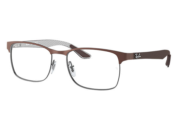 Ray-Ban 0RX8416-RB8416 Brown,Gunmetal; Brown,Grey OPTICAL