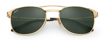 Ray-Ban SIGNET Gold with Green Classic G-15 lens