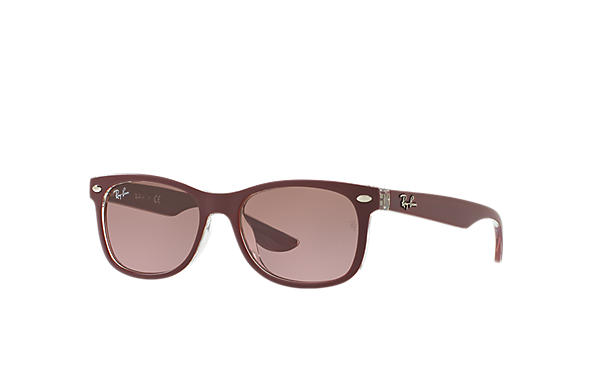 Ray-Ban 0RJ9052S-NEW WAYFARER JUNIOR Bordeaux,Trasparente SUN