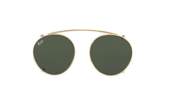 Ray-Ban 0RX2447C-Round Fleck Clip-on Guld CASE