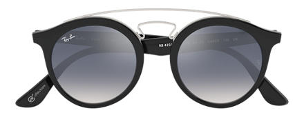 Ray-Ban GATSBY I @Collection Black with Light Blue Gradient lens