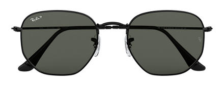 Ray-Ban HEXAGONAL FLAT LENSES Black with Green Classic G-15 lens