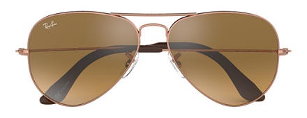 Ray-Ban AVIATOR @Collection Bronze-Copper with Brown/Silver Mirror lens