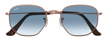 Ray-Ban HEXAGONAL @Collection Bronze-Copper with Light Blue Gradient lens