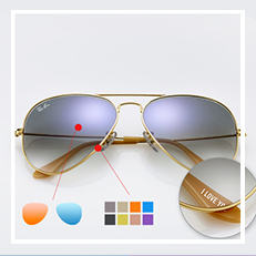ray-ban 'pilot' polarized sunglasses