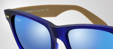 Custom Ray-Ban Wayfarer front and temple