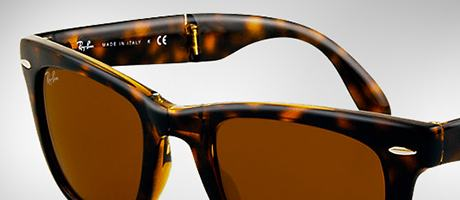 Comment plier ces lunettes  Custom Ray-Ban Folding Wayfarer front and temple cdf1cefc3946