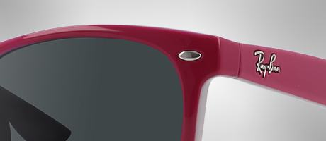 Custom Ray-Ban Wayfarer Junior frame and logo