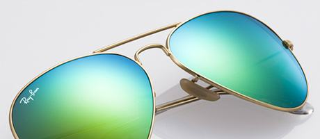 Custom Ray-Ban Aviator bridge and lens