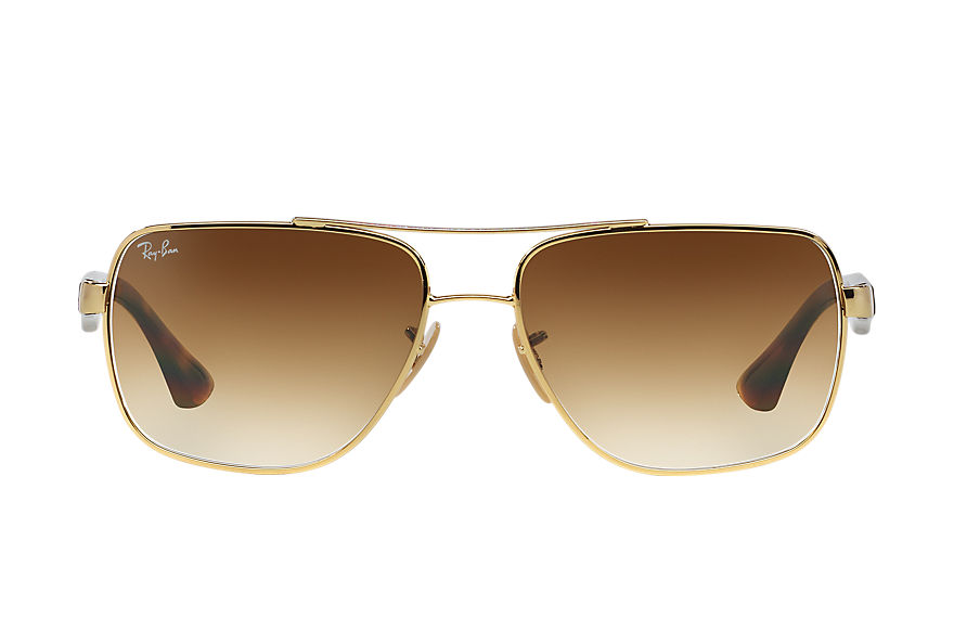 Ray-Ban Sunglasses RB3483 Gold with Light Brown Gradient lens
