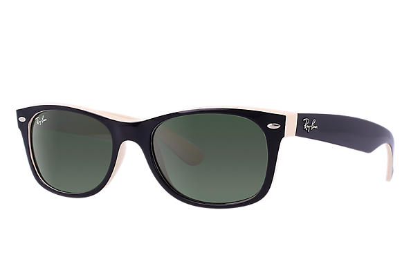 c273d3b4bc Ray-Ban New Wayfarer Color Mix RB2132 Black - Nylon - Green Lenses ...