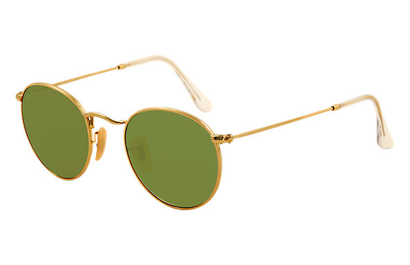 Ray-Ban Round Metal RB3447 Oro - Metal - Lentes Verde - 0RB344700150 ... 87a7f78481