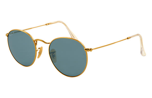 f00118447df60 Round Metal Ray-Ban RB3447 Or - Métal - Verres Vert - 0RB344700150   Ray-Ban®  France