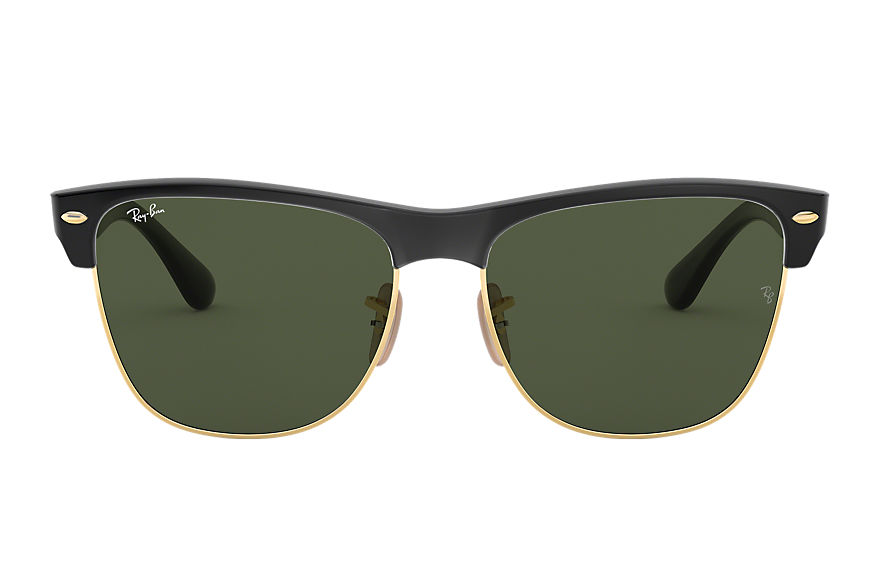 Ray-Ban Sunglasses CLUBMASTER OVERSIZED Black with Green Classic G-15 lens