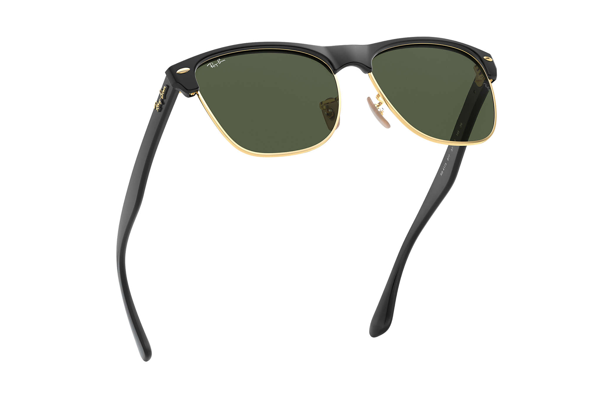 f4c326df242 Ray-Ban Clubmaster Oversized RB4175 Black - Nylon - Green Lenses ...