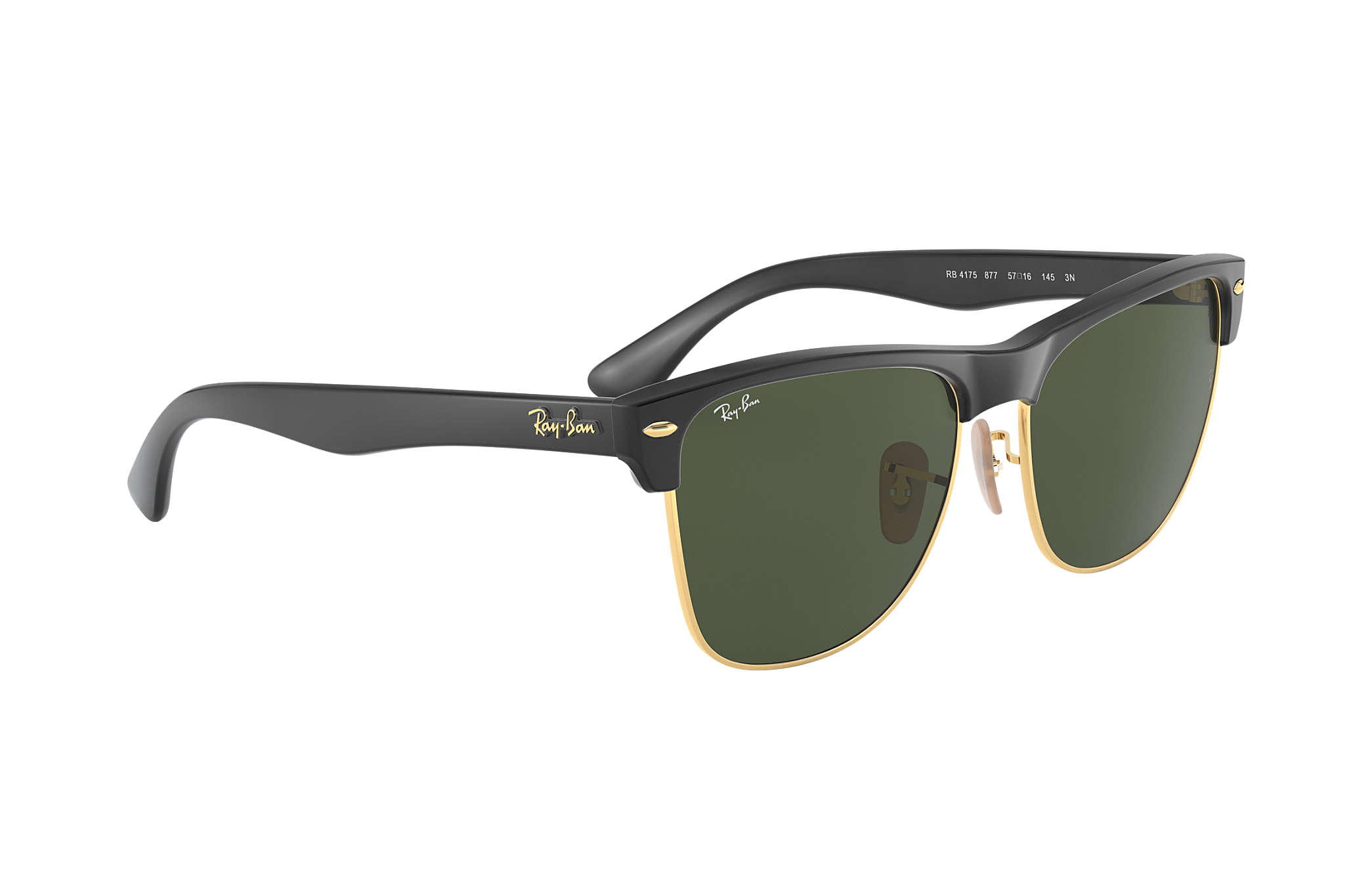 Ray-Ban Clubmaster Oversized RB4175 Black - Nylon - Green Lenses ... 9e3e5d4b39