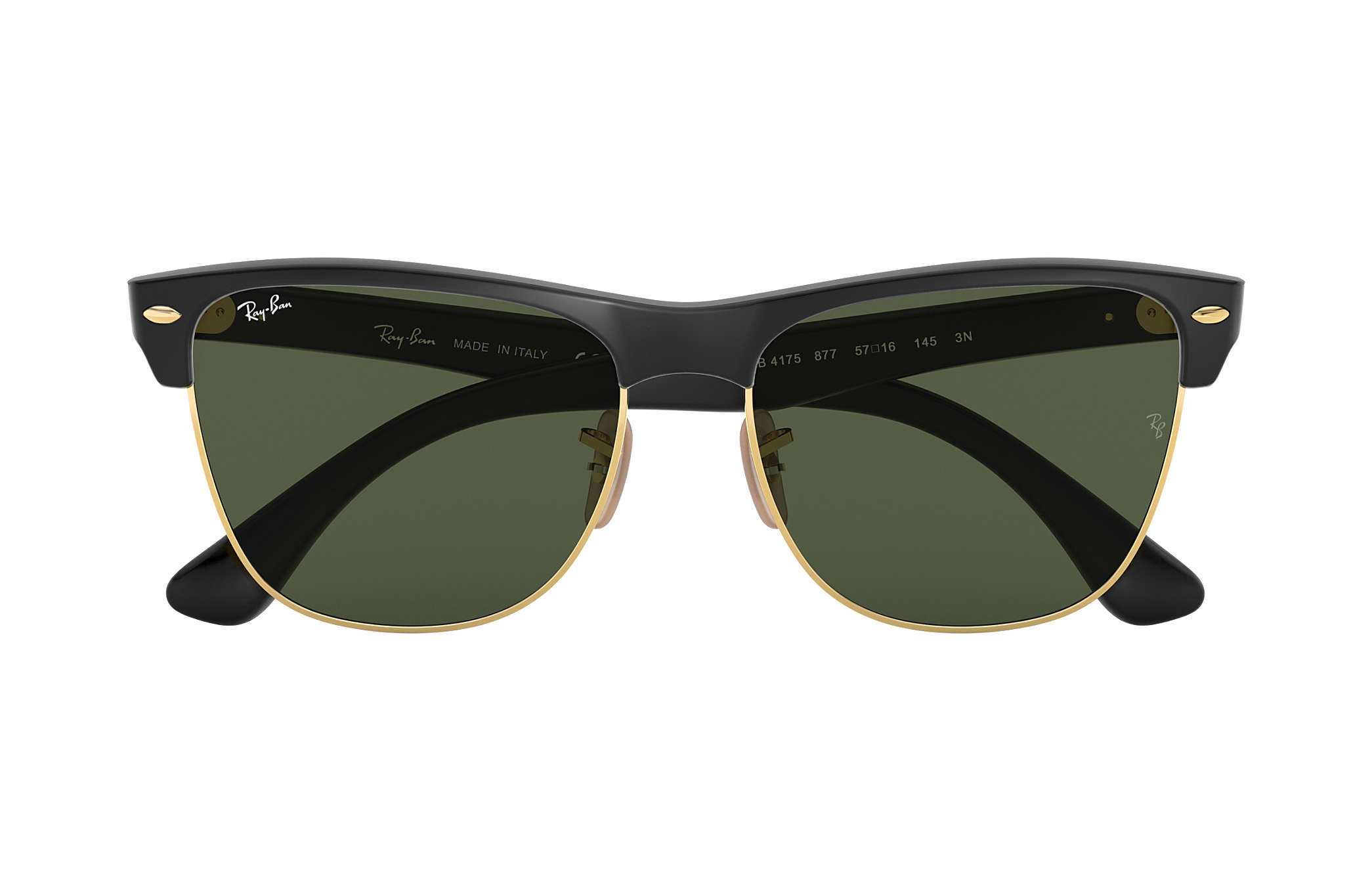 d7c9a0ecd69 Ray-Ban Clubmaster Oversized RB4175 Black - Nylon - Green Lenses ...
