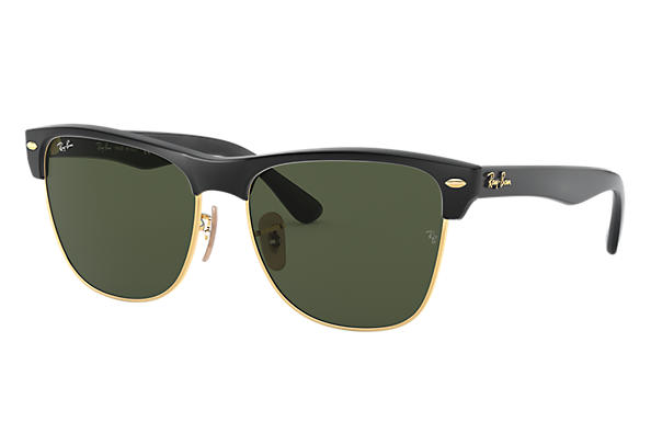 f3ca98f0672 Ray-Ban Clubmaster Oversized RB4175 Black - Nylon - Green Lenses ...