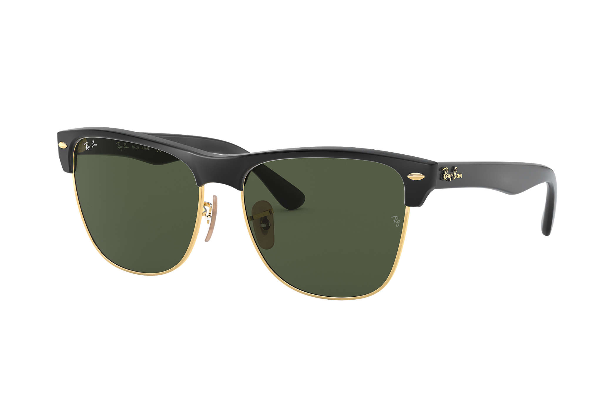 a1507a5929 Ray-Ban Clubmaster Folding RB2176 Black - Acetate - Green Lenses ...
