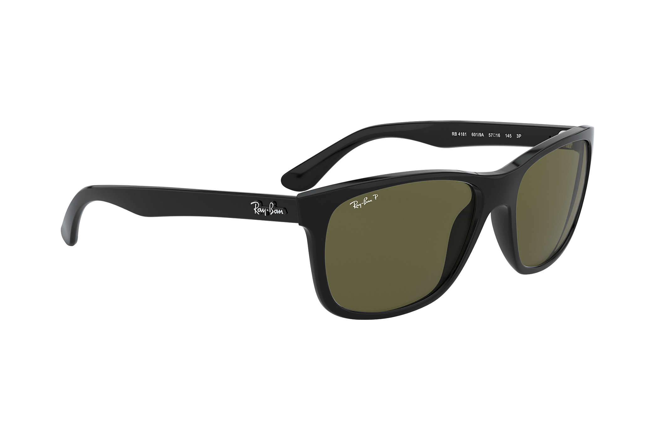 7fe0127382b3 Ray-Ban RB4181 Black - Nylon - Green Polarized Lenses - 0RB4181601 ...