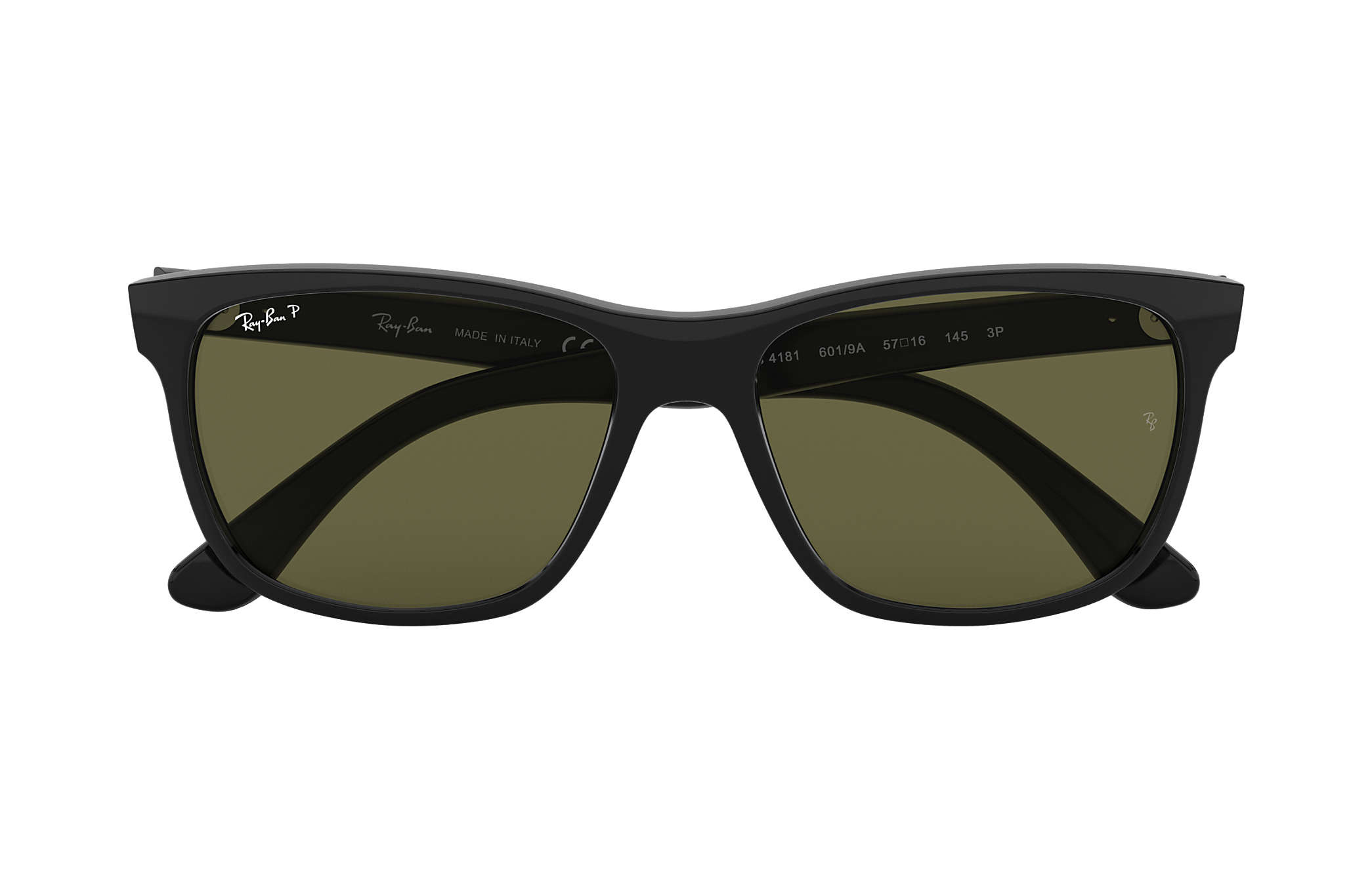 96c40c7f6d Ray-Ban RB4181 Black - Nylon - Green Polarized Lenses - 0RB4181601 ...