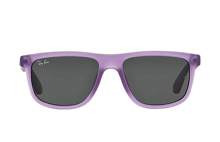 Ray-Ban RJ9057S Violet with Grey Classic lens
