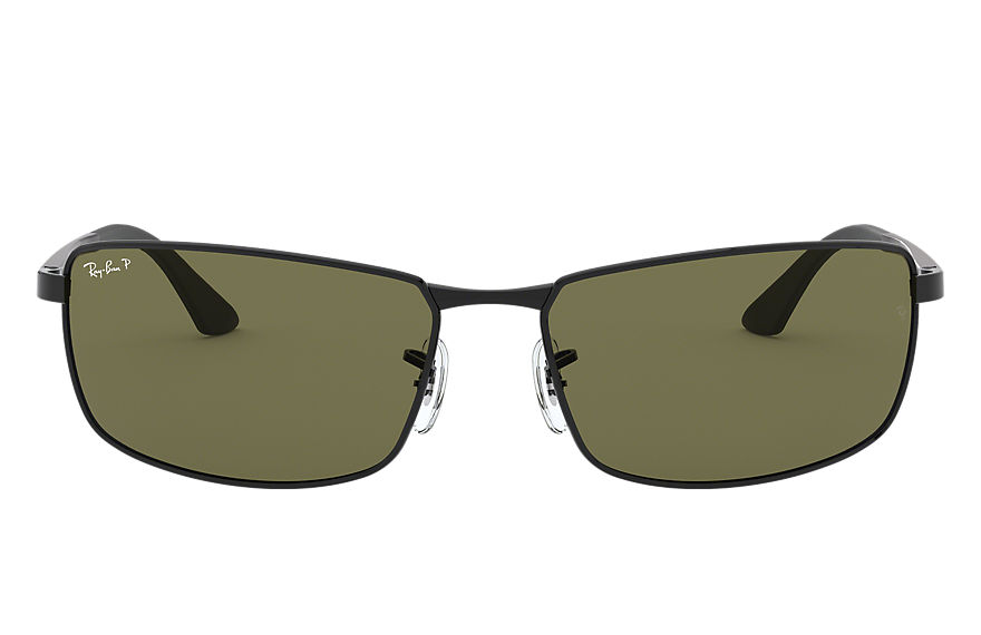 Ray-Ban RB3498 Black with Green Classic G-15 lens