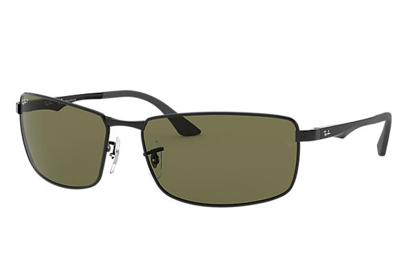 d3a2eb57428 Ray-Ban RB3498 Black - Metal - Green Polarized Lenses - 0RB3498002 ...