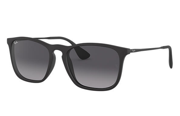 Ray-Ban Sunglasses CHRIS Black with Grey Gradient lens
