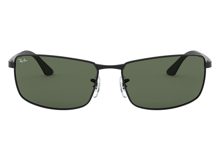 Ray-Ban RB3498 Black with Green Classic lens