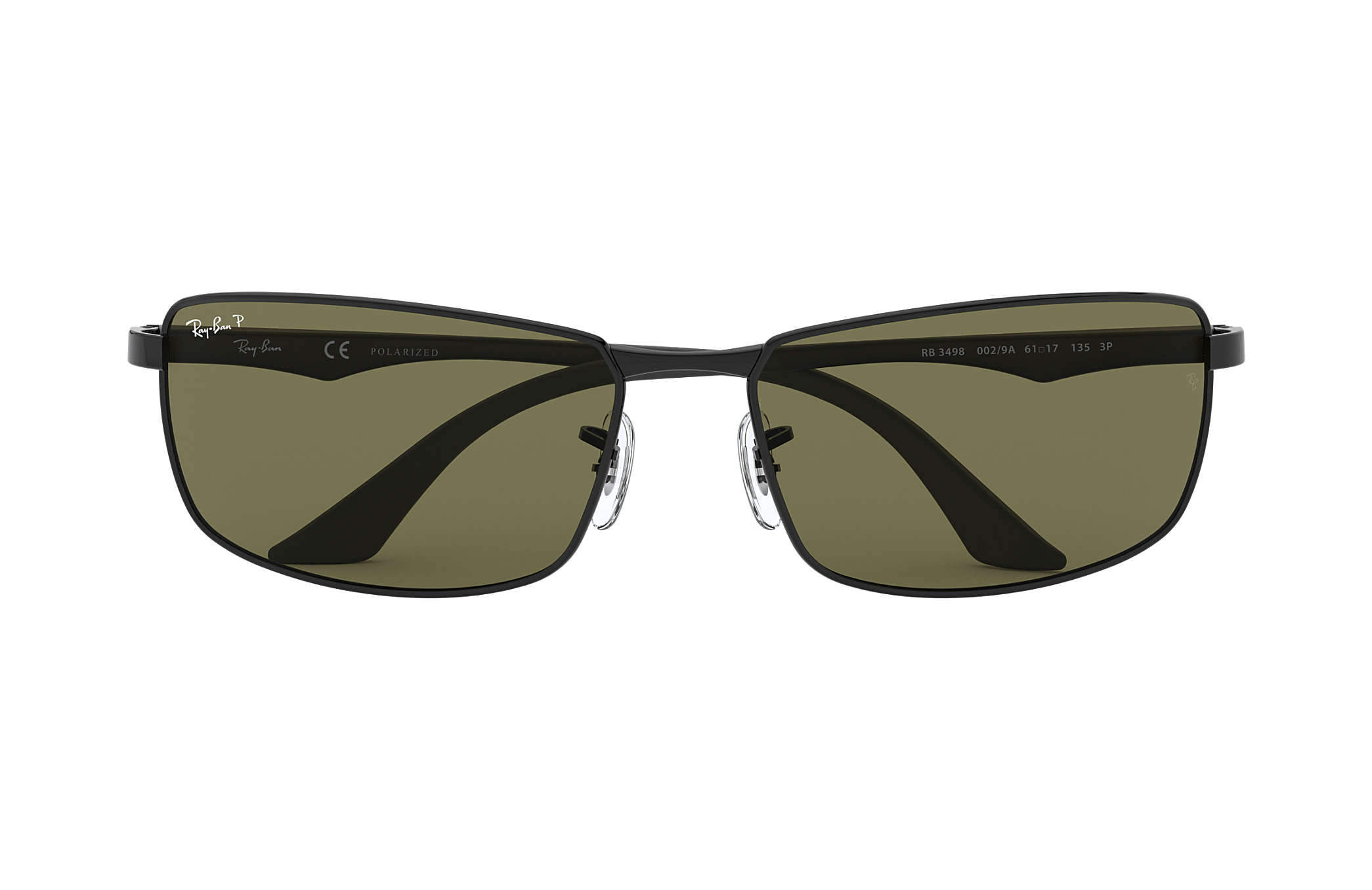 9b6dd731d04d6 Ray-Ban RB3498 Black - Metal - Green Polarized Lenses - 0RB3498002 ...
