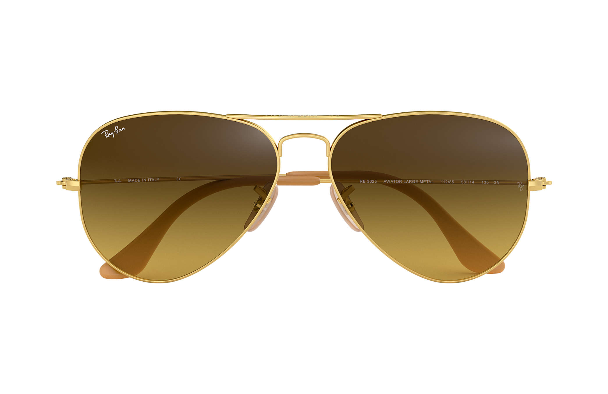 ceb54a07262 Ray-Ban Aviator Gradient RB3025 Gold - Metal - Brown Lenses ...
