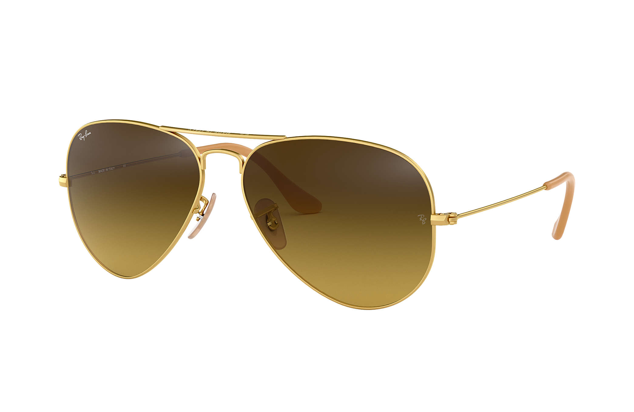 6e700b5d2c7 Ray-Ban Aviator Gradient RB3025 Gold - Metal - Brown Lenses ...