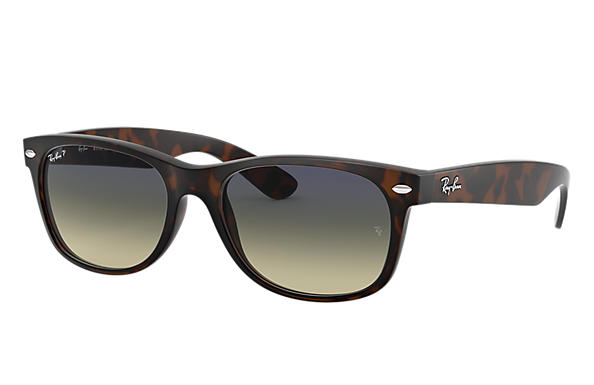 78ade2c7fd Ray-Ban New Wayfarer Classic RB2132 Tortoise - Nylon - Blue Green ...