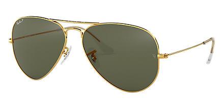 7a306398b Ray-Ban AVIATOR CLASSIC Ouro com Verde Clássica G-15 lentes
