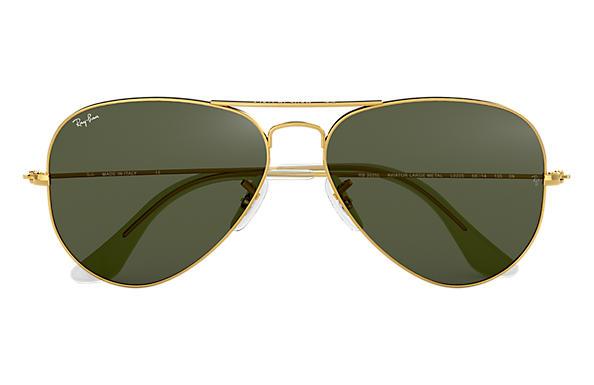 Ray-Ban Aviator Clássico RB3025L Ouro - Metal - Lentes Verde ... d8c57c6ede